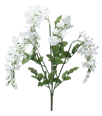 Fresh Picked Spring 21'' Wisteria Bush-White