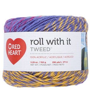 Red Heart Roll With It Tweed Yarn