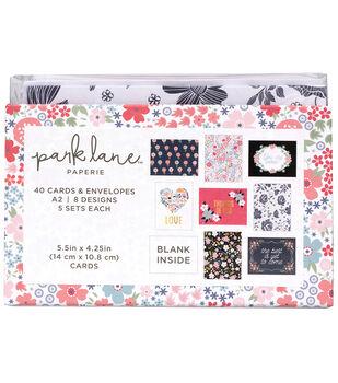 Park Lane Card & Envelope Sets-Navy Floral