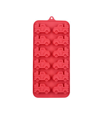 Valentine's Day 8.25''x4'' Silicone Candy Mold-Trucks with Heart