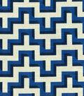 HGTV HOME Home Decor Print Fabric- Jigsaw  Lapis