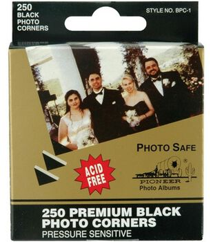 Black Photo Corners-Acid Free