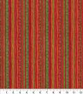 Christmas Cotton Fabric-Elaborate Holiday Stripes