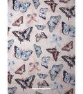 No Sew Fleece Throw Kit 72\u0027\u0027x60\u0027\u0027-Teal Butterflies