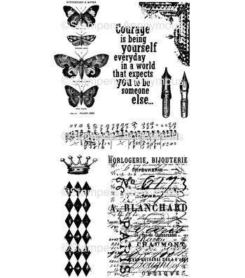 Tim Holtz Cling Mounted Rubber Stamp Set - Butterfly Melange