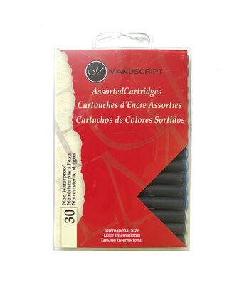 Manuscript Assorted Calligraphy Cartridges 30/Pkg