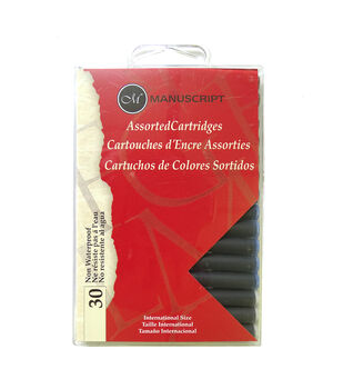 Manuscript 30 pk Assorted Calligraphy Cartridges