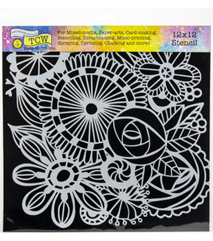 "Crafter's Workshop Template 12""X12""-Blooming Garden"