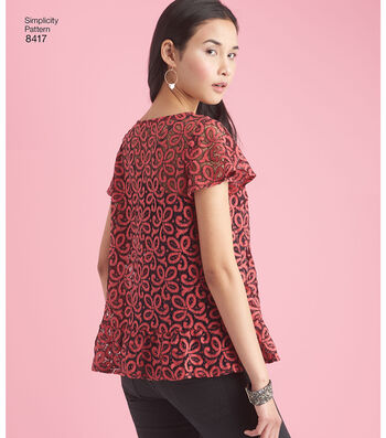 Simplicity Pattern 8417 Misses' Pullover Tops-Size H5 (6-8-10-12-14)