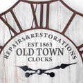 Furniture Finds Old Town Vintage Wall Clock