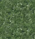 Keepsake Calico Glitter Cotton Fabric-Hunter Green Sponge Paint