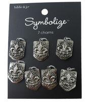 hildie & jo Symbolize 7 Pack Fleur Di Lis Silver Charms, , hi-res
