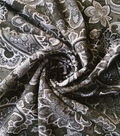 Summer Ponte Knit Fabric 57\u0027\u0027-Black & White Paisley