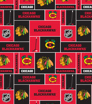 Chicago Blackhawks Fleece Fabric -Block, , hi-res