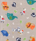 Nursery Flannel Fabric -Safari