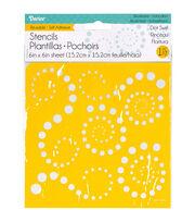 Darice 6''x6'' Reusable Self-Adhesive Stencil-Dot Swirl, , hi-res