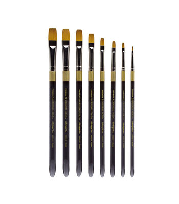 KINGART Original Gold Acrylic Handle Brush Set 8pk