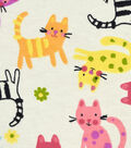 Snuggle Flannel Fabric 42\u0027\u0027-Kitties on Ivory