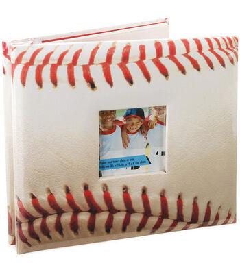 "8""x8"" Postbound Album-Baseball"