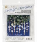 Solid Oak Nostalgic Christmas Beaded Crystal Icicles Ornament Kit-Gold