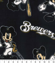 Milwaukee Brewers Fleece Fabric-Mickey, , hi-res