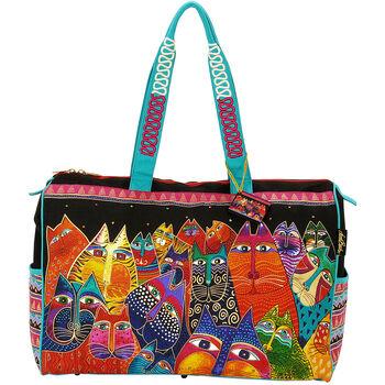 """Laurel Burch Travel Bag Zipper Top 21""""x8""""x16""""-Fantasticats"""