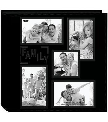 "Pioneer 5-Up Collage Frame Sewn Embossed Photo Album 12""X12""-Black"
