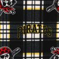 Pittsburgh Pirates Fleece Fabric -Plaid