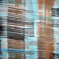 Fast Fashion Yoryu Chiffon Fabric-Natural Graphic Plaid