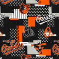 Baltimore Orioles Cotton Fabric -Patch