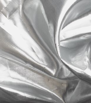 Metallics Shiny Lame Fabric -Silver
