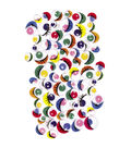 Peel & Stick Wiggle Eyes Assorted 7mm to 15mm 100/Pkg-Painted