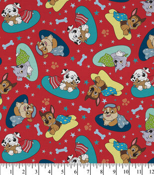 Paw Patrol Cotton Fabric-Bedtime