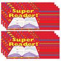 Teacher Created Resources Super Reader Awards, 25 Per Pack, 8 Packs