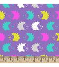 Snuggle Flannel Fabric 42\u0022-Hedgehogs Purple