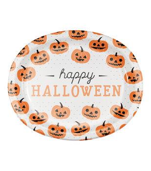Maker's Halloween 8 pk Platters-Jack-o'-lantern