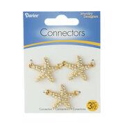 Chic Starfish Connectors, Silver, 3pc., , hi-res