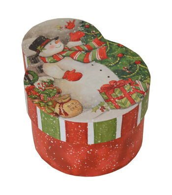 Maker's Holiday Large Snowman Shape Box