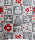 Star Wars Fleece Christmas Print Fabric -Stormtroopers Patch