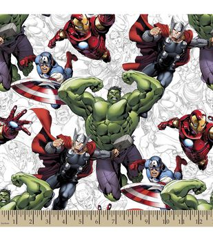 Marvel's The Avengers Print Fabric