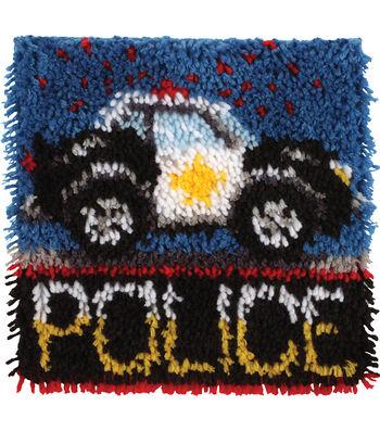 "Wonderart Latch Hook Kit 12""X12""-Police Car"