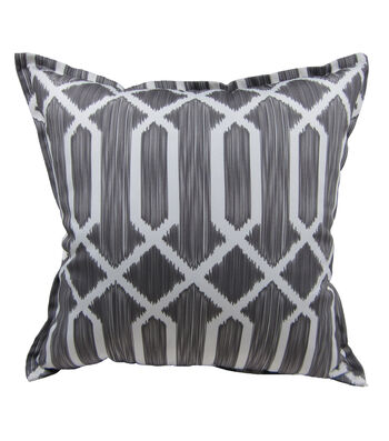 "Patio Oasis 19""x19"" Gray Tile Print Outdoor Pillow"
