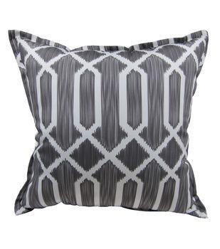 "Patio Oasis 19""x19"" Gray Tile Print Outdoor Pillow"