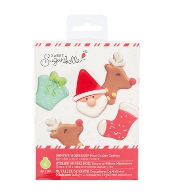 Sweet Sugarbelle Christmas Mini Cookie Cutter Set-Santa's Workshop