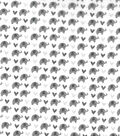 Nursery Cotton Swaddle Fabric 44\u0022-Grey Elephants