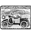 Crafty Individuals Unmounted Rubber Stamp 4.75\u0022X7\u0022 Pkg-Chunky Vintage Car Tag