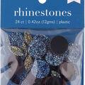 hildie & jo 24 pk 0.42 oz. Assorted Flat Back Rhinestones-Blue & Yellow