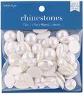 hildie & jo 70 pk 1.7 oz. Assorted Plastic Flat Back Rhinestones-White