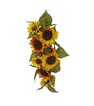 Blooming Autumn Water Resistant Sunflower Teardrop-Yellow