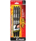 Frixion Ball Erasable Gel Pens 3/Pkg-Black